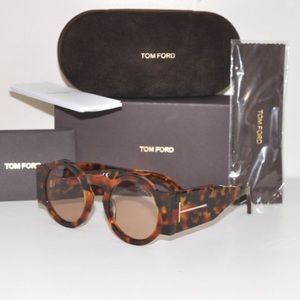 Tom Ford Accessories - TOM FORD Tatiana-02 TF 603 55E BROWN HAVANA RETRO